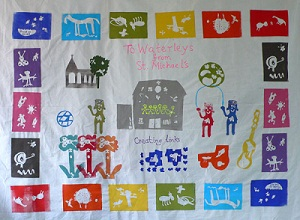 Schoolchildren's wall hanging